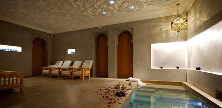Detente Marrakech bain bleu