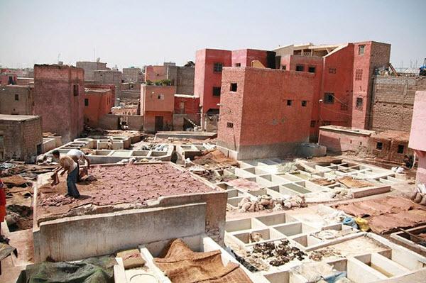 quartier des tanneurs marrakech